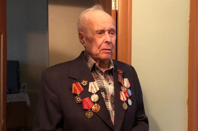 Фронтовик Григорий Георгиевич Морев.