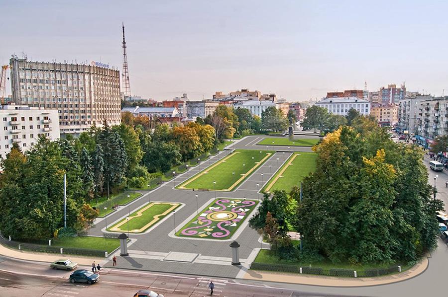 Сквер на площади Горького станет удобным и красивым.