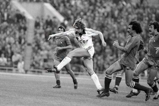 Кандидат в члены олимпийской сборной команды СССР по футболу Фёдор Черенков. 1983 год