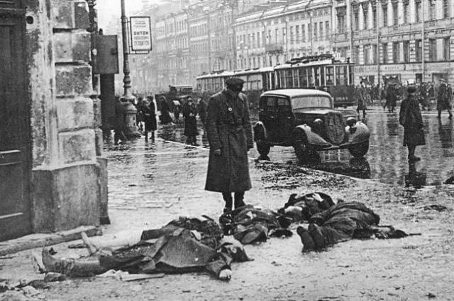 Хрусталем называли промерзшие на улицах трупы. Фото Д. Трахтенберга.