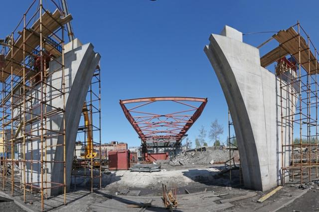 Общая длина моста – 473,78м. Количество опор – 7 штук.