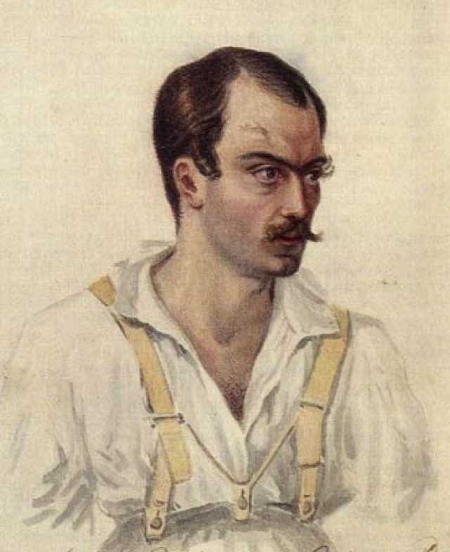 Александр Якубович прострелил Грибоедову мизинец.