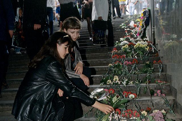 Место трагедии вподземном переходе устанции метро «Немига».