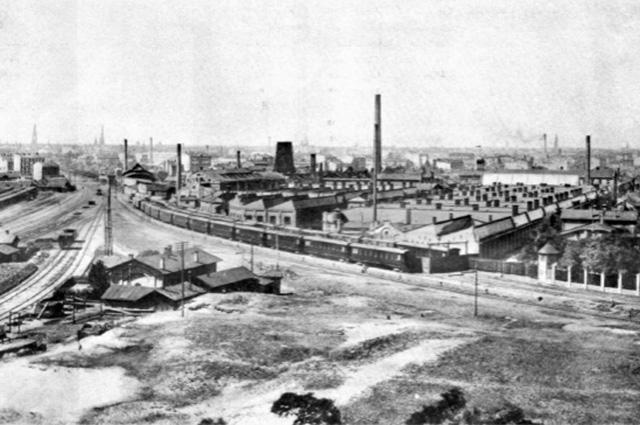 Русско-Балтийский вагонный завод. Фото 1909 года.