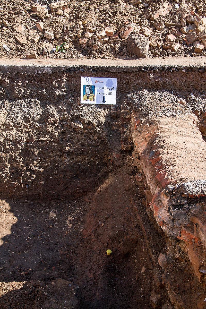Могила короля Ричарда III, которую обнаружили в Лестере 25 августа 2012 года