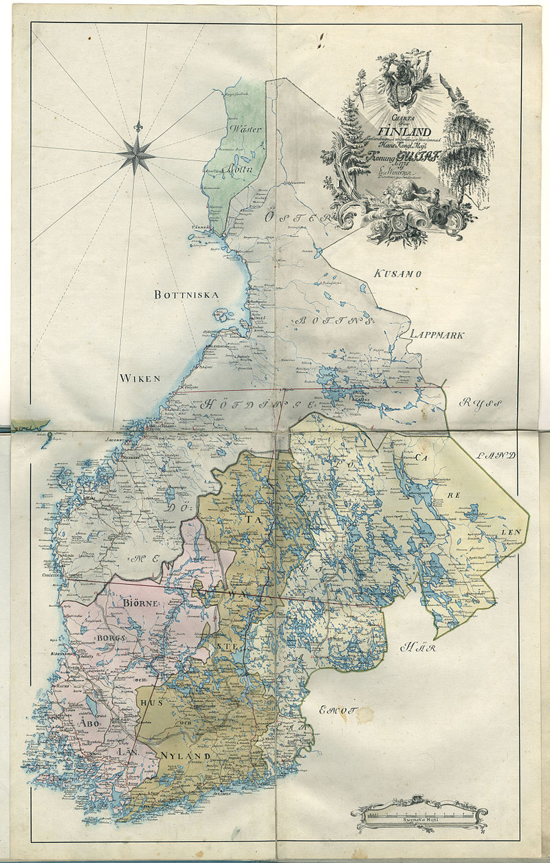 Шведская карта Финляндии 1775 года.