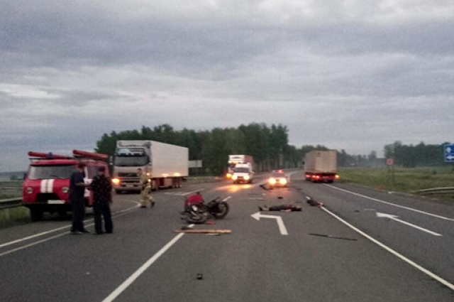 Мотоциклист погиб в ДТП.