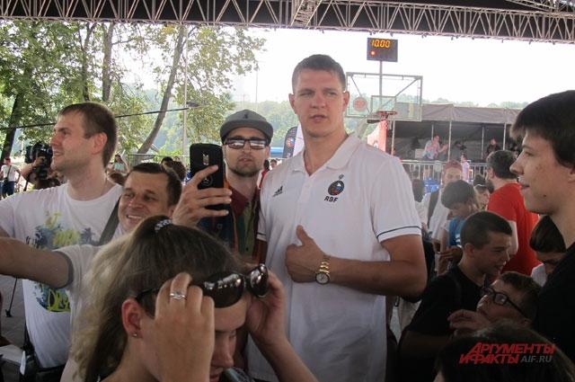 Тимофей Мозгов, центровой сборной России.