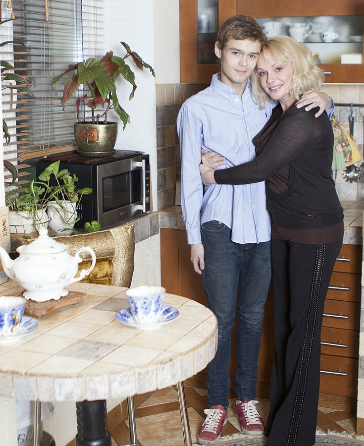 Ирина Цывина с сыном Евгением.