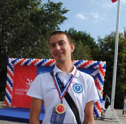 Андрей Волков победитель в компетенции «Интеллектуальная система учета электроэнергии»