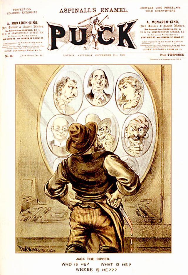 Обложка журнала Puck от 21 сентября 1889 года. Художник Том Мерри.