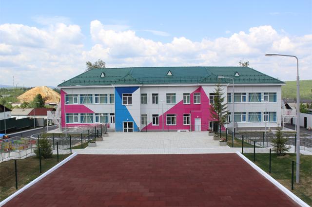 Детский сад в Карабаше Челябинской области, полностью обустроенный РМК.