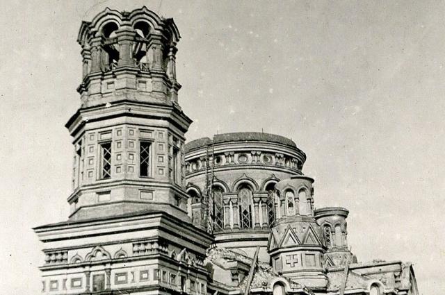 Собор взорвали в 1935 году.