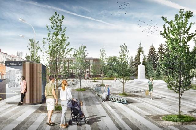 Благодаря «Проектам первых побед» в Первоуральске преобразится площадь Победы и ряд знаковых улиц.