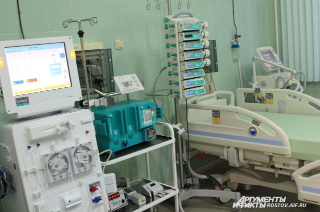 Аппарат Марс-терапия, «искусственная печень». Используется для  до- и послеоперационного периода больного