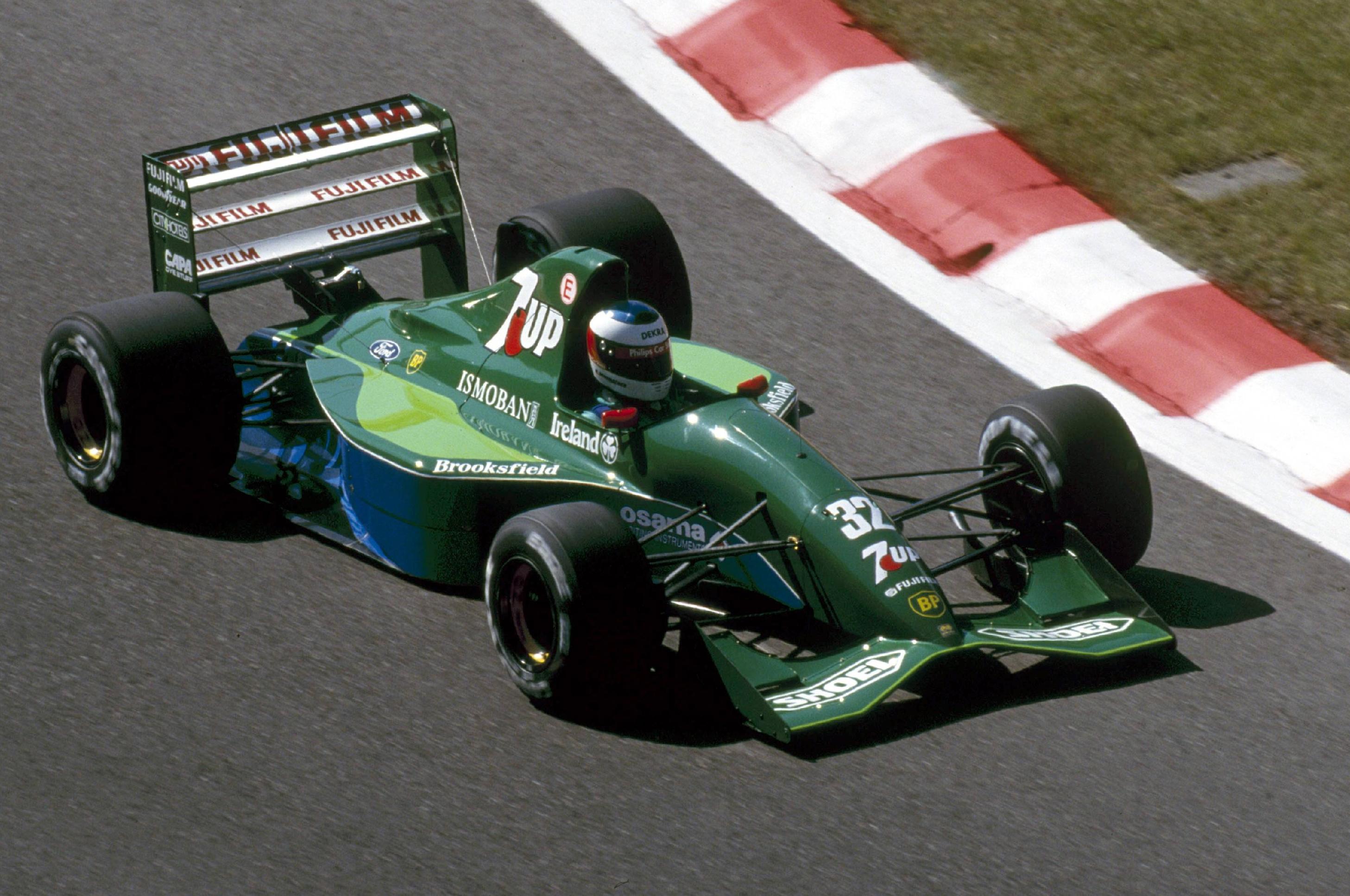 Михаэль Шумахер за рулём Jordan во время Гран-при Бельгии 1991 года