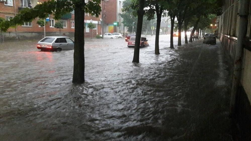 Потоп в центре города.