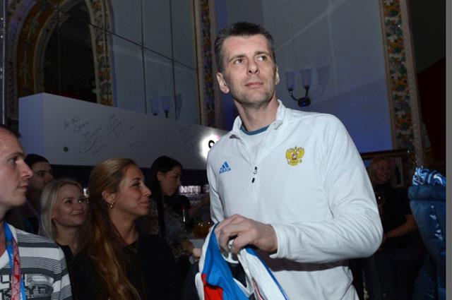 Президент Союза биатлонистов России Михаил Прохоров в корпоративном доме Боско в Сочи