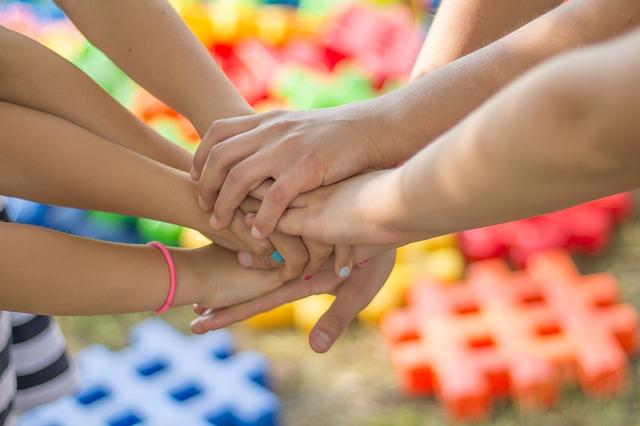 дети, руки, братья, сестры