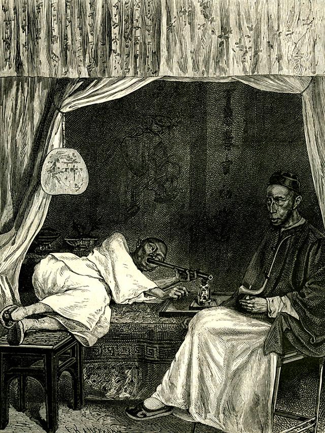 Курение опиума, Китай, 1837 г.