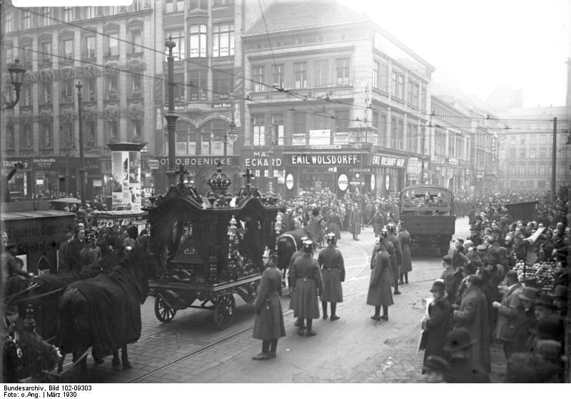 Похороны Хорста Весселя. Берлин, 1930г.