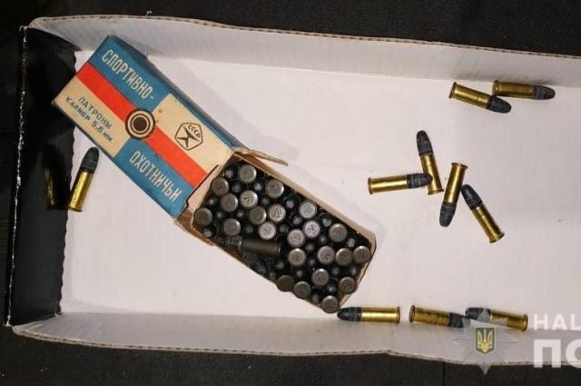 Найденные полицией боеприпасы.