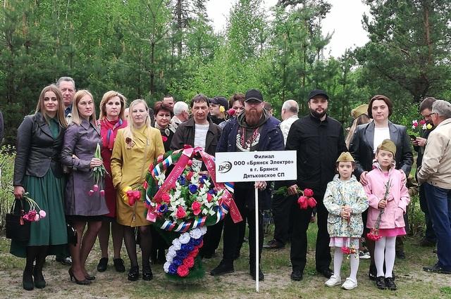 Сотрудники Дятьковского СП на праздновании Дня Победы.