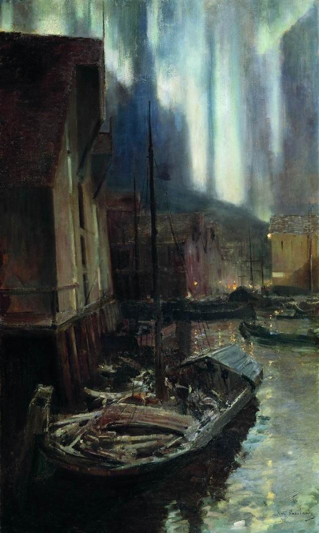 Картина «Геммерфест. Северное сияние». Третьяковская галерея.