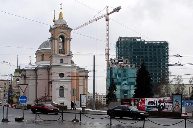 Демонтаж гостиницы «Россия» 3 февраля 2007 года