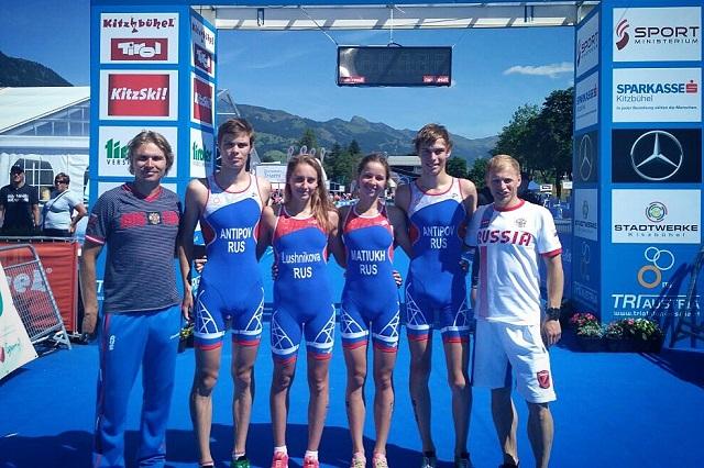 Серебряные призеры юниорского первенства Европы по триатлону
