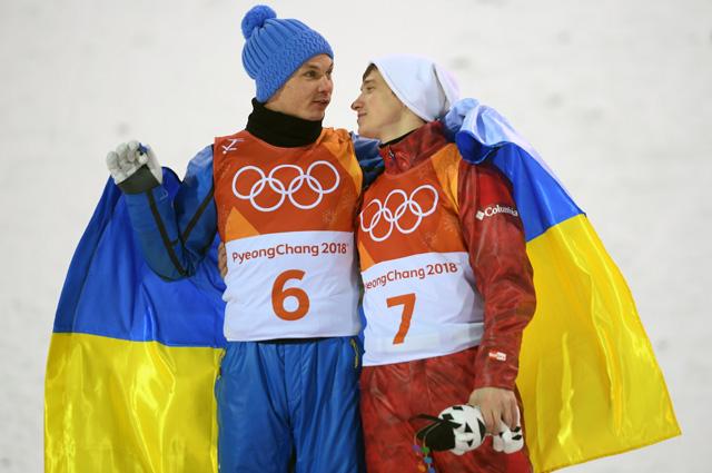 Украинский фристайлист  Абраменко и  русский Буров - один флаг на двоих.