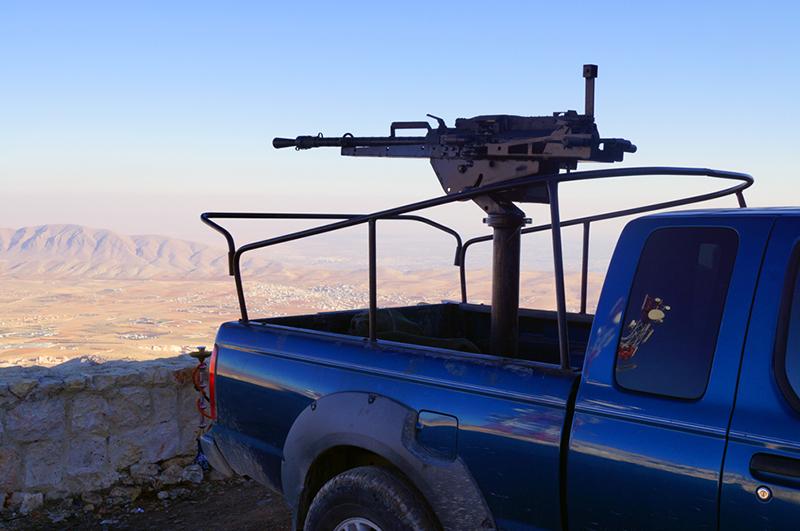 Этот крупнокалиберный пулемет принадлежит добровольцам, сражающимся против боевиков