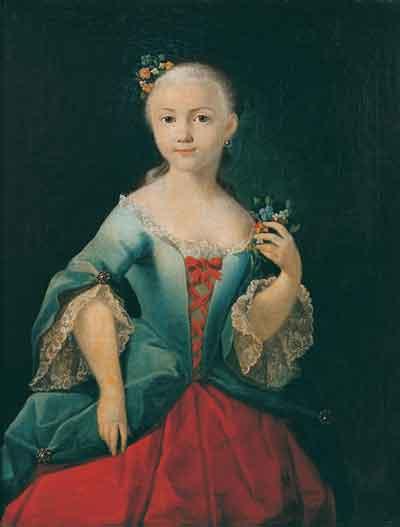 Елизавета Стрешнева, художник Иван Аргунов (1760)
