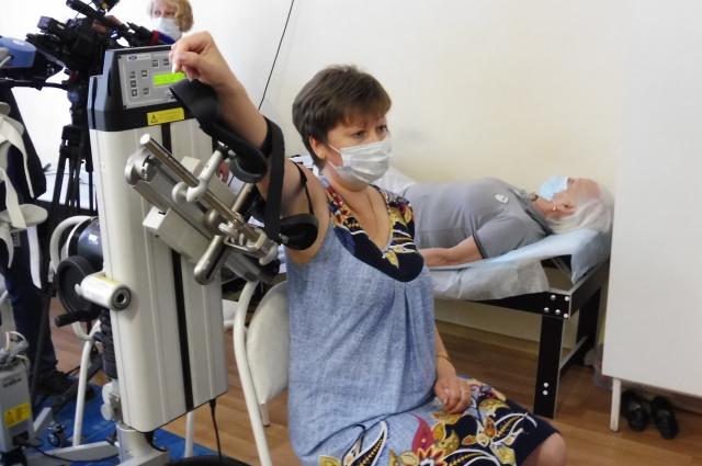 В кабинете механотерапии пациентам восстанавливают мышечный тонус и объем движений после травм и перенесенных операций.