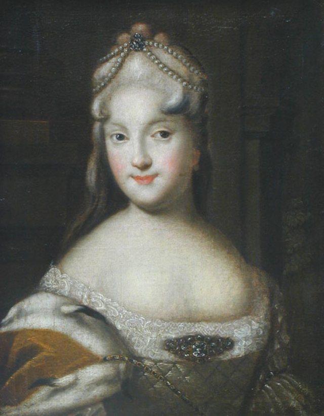 Екатерина Долгорукова, вторая невеста Петра. Неизвестный художник, 1729 г., Псков.