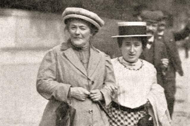 Клара Цеткин и Роза Люксембург, которые считаются