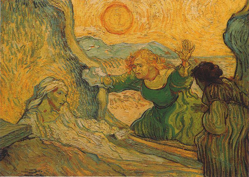 «Воскрешение Лазаря», картина Ван Гога