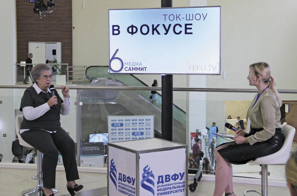 В кадре - известный приморский политик Светлана Горячева.