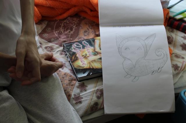 Рисунок Вики и любимая книга