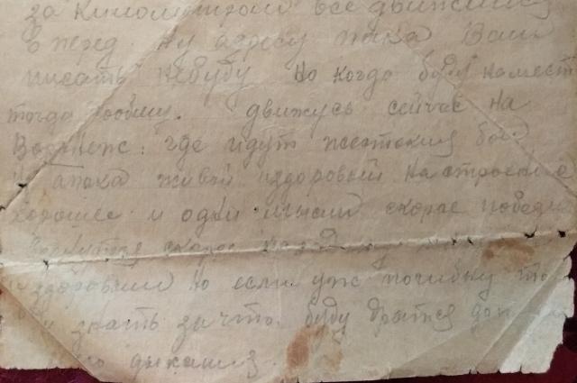 Последнее письмо Ивана Ефимова.