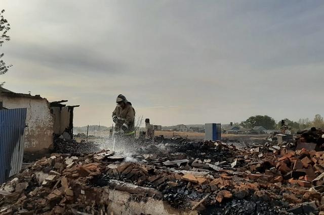 Николаевка после пожара.