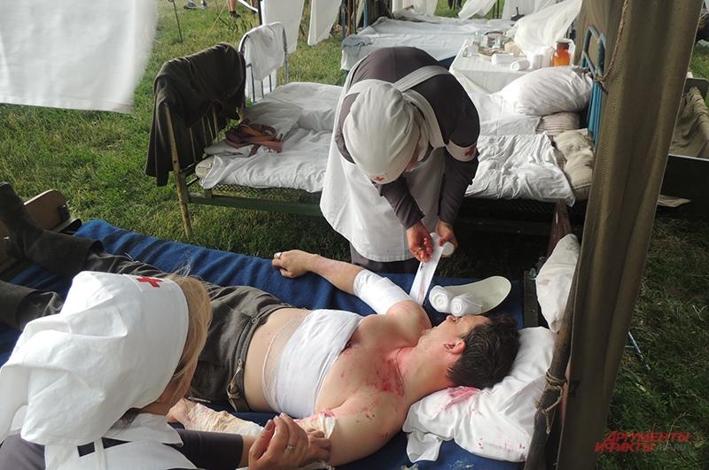 Оказание помощи раненым