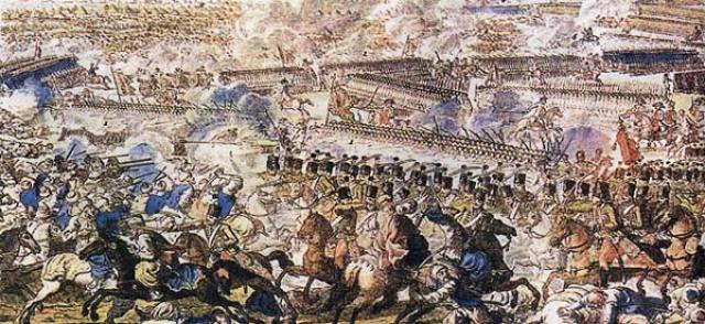 Сражение при Рымнике. Гравюра Х.Г.Шютца, Австрия. Кон. XVIII в.
