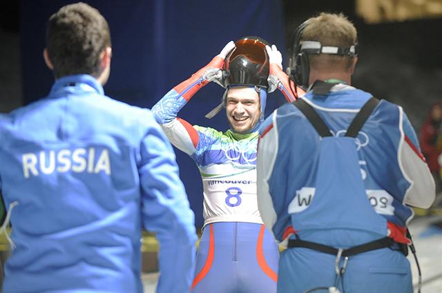 Александр Третьяков принес первую для России Олимпийскую медаль в скелетоне. Ванкувер, 2010 год