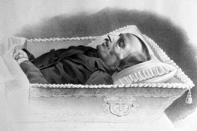 Николай Васильевич Гоголь на смертном одре.