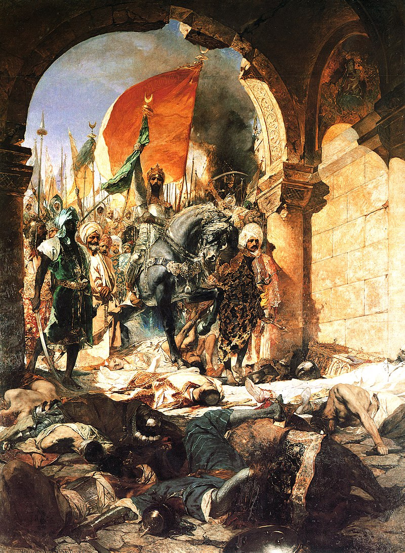 Вступление Мехмеда II в Константинополь. Картина Жана-Жозефа Бенжамен-Констана.