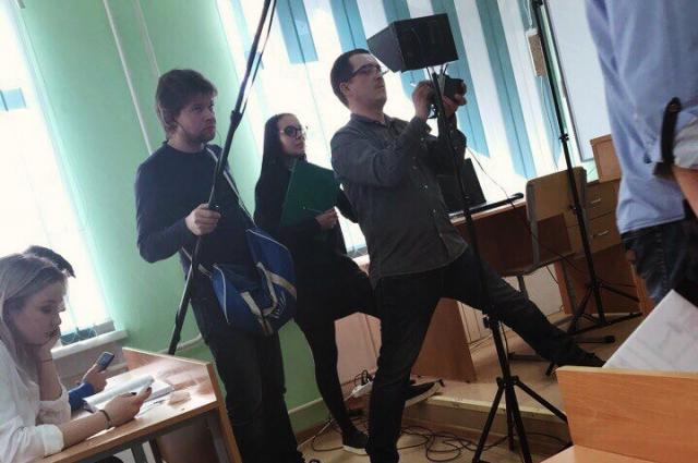 На съёмках фильма Яны Мартынец.