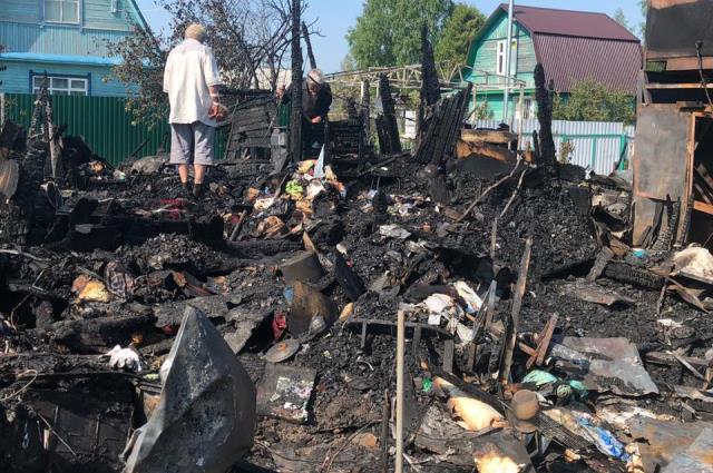 Пожар в садовом домике в Костромском районе произошёл 7 июня.