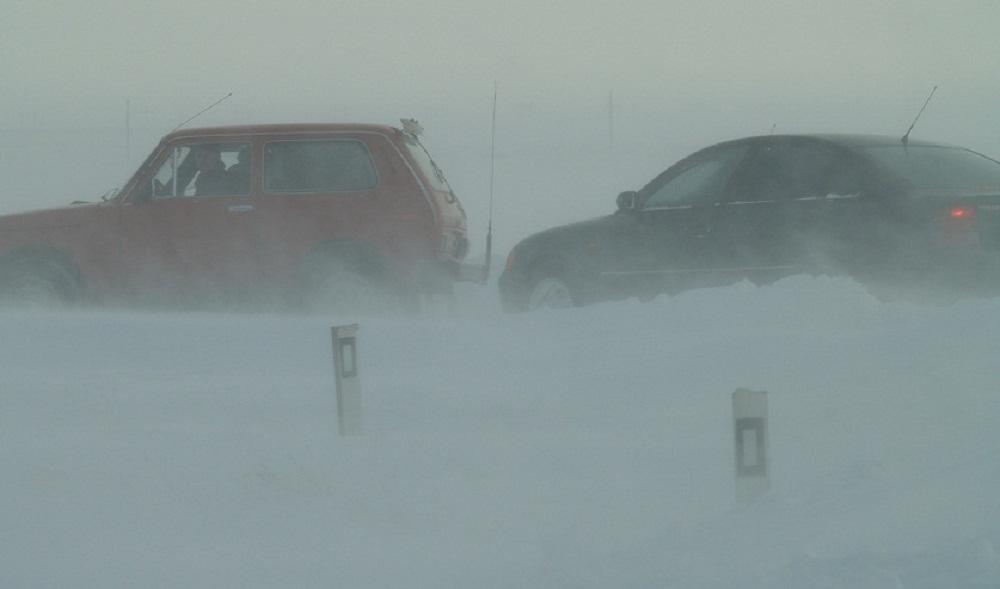 Граница в снегу