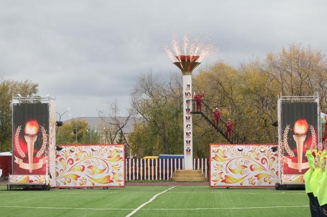 Спортивные объекты в районе преобразились к празднику.